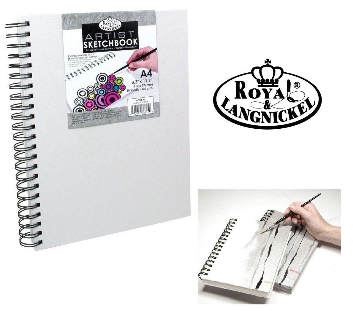 A6 Casebound Sketch Book Premium 110gsm White Cartridge Paper