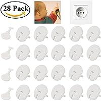Ouinne 24 pezzi Copripresa Elettrica per Bambini con 4 pezzi Chiave Protezioni Presa di Sicurezza i Bambini Neonati