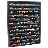 1:64 Scale Toy Cars Wheels Display Case Cabinet Matchbox Model Cars - No Door Black Hot-HW10-BL
