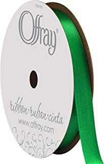 "product image for Berwick Offray 068830 3/8"" Wide Single Face Satin Ribbon, Emerald Green, 6 Yds"
