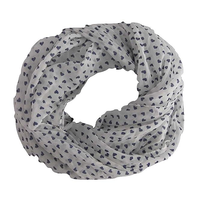 l'atteggiamento migliore 39915 ecea3 NoBrand/Generico Foulard donna fantasia cuori sciarpa ...