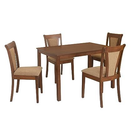 ba0e063caf9  home by Nilkamal Jewel FIDSJEWELKIT4STWLT 4 Seater Dining Table Set (Walnut )