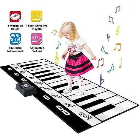 SGILE Tapete de Piano Teclado Portátil Grande Keyboard Playmat, Tapete de Piano de 24 Teclas