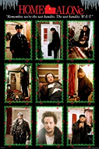 Pyramid America Home Alone Harry and Marv were The Wet Bandits Montage Funny Christmas Movie Kevin McAllister Holiday Film Cool Wall Decor Art Print Poster 12x18
