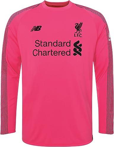 New Balace Liverpool Fc Long Sleeve Pink Boys Football Goalkeeper Third Shirt 18 20 Amazon Co Uk Clothing