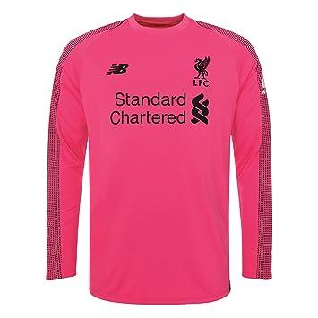 aa4f731408101 New Balace Liverpool FC Long Sleeve Pink Boys Football Goalkeeper Third Shirt  18/19 LFC