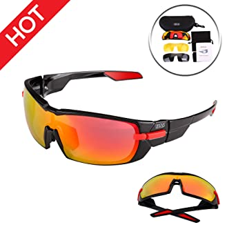41d5f583aa Image Unavailable. Image not available for. Color  IDEAPLUS Sports  Sunglasses Men Women Baseball Running Cycling ...