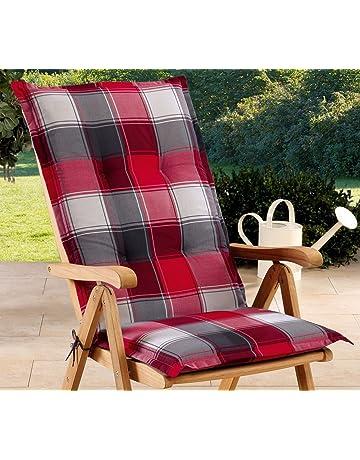 Schwar Textilien - Cojines para sillas de jardín con Respaldo Alto, 3 Colores