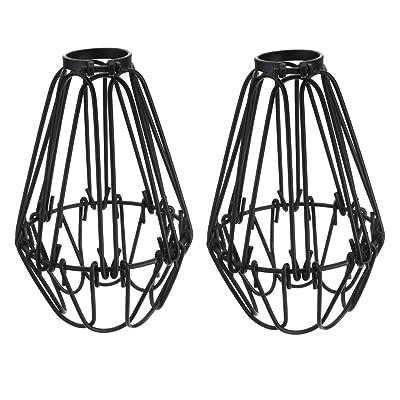 'Vintage Cage fil Abat-jour, motent Retro industrielle métal DIY Lampadaire Suspension 4,13Largeur Support Accessoires pour cuisine Loft couloir salon de chambre bar café Charger Restaurant Antiqu