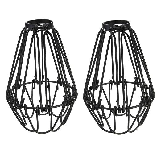 Adjustable wire cage lampshade motent 2pcs vintage industrial metal adjustable wire cage lampshade motent 2pcs vintage industrial metal bird cage bulb guard island pendant keyboard keysfo Gallery