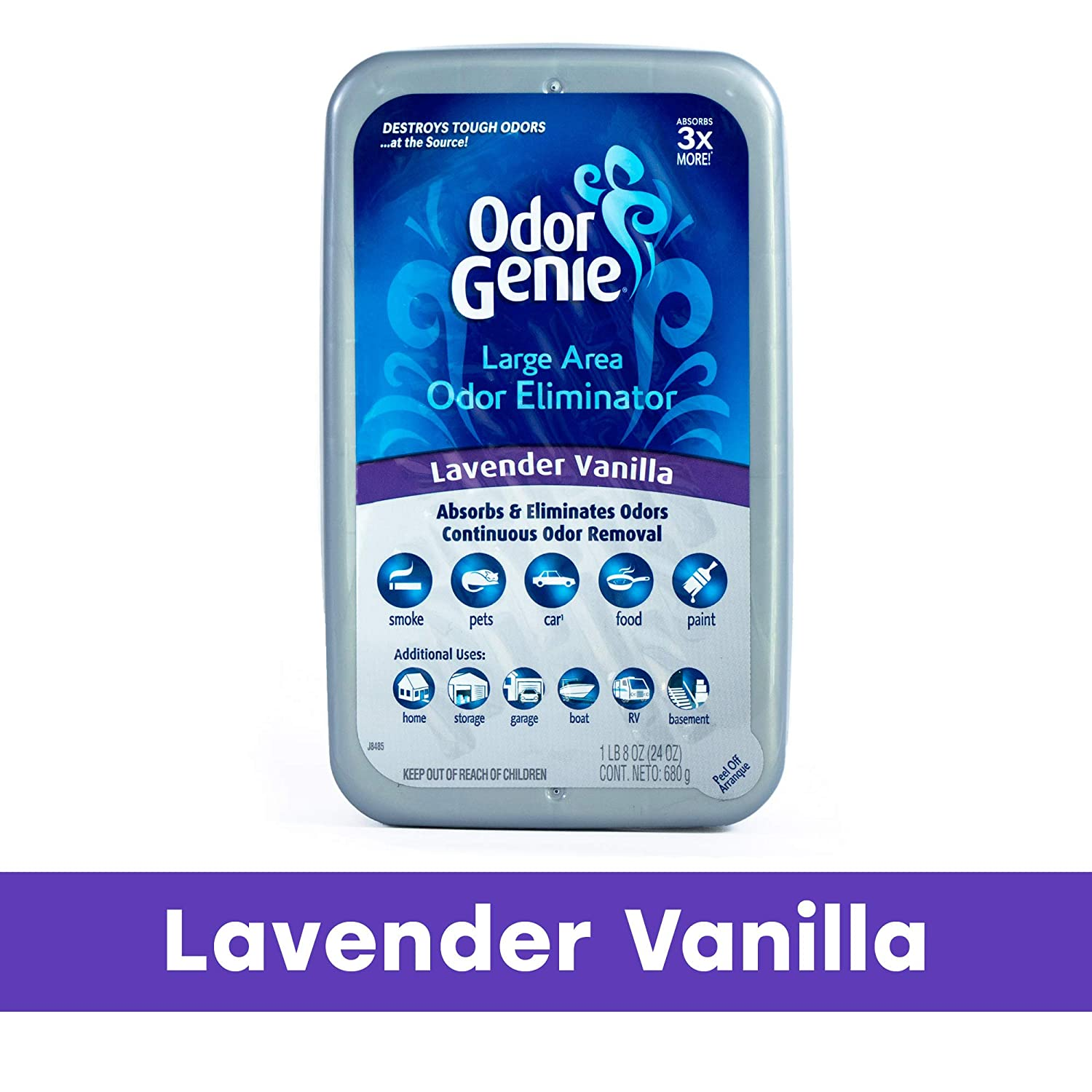 Odor Genie Large Area Odor Absorber and Eliminator, Lavendar Vanilla