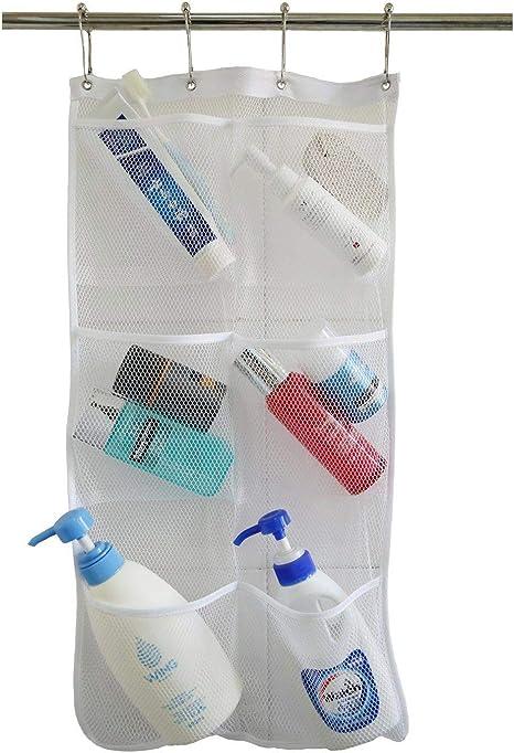 Bathroom Door Organizer Shower Cabinet Hanging Storage Pockets Plastic Kitchen