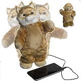 Set of 2 Party Dancing Stuffed Animal Dog & Cat Pet Speaker Toys For Smartphone Dock