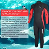 Hevto Wetsuits Kids 3mm Neoprene Jumpsuit Swimsuit
