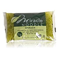 Miracle Noodle Shirataki Spinach Angel Hair Pasta, Gluten-Free, Zero Carb, Keto, Vegan, Soy Free, Paleo, Blood Sugar Friendly, 7oz (Pack of 12)