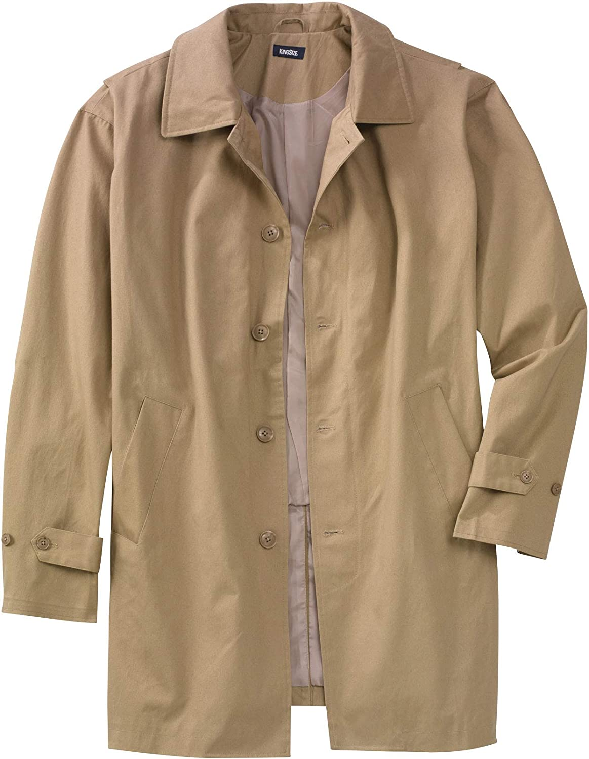 KingSize Mens Big /& Tall Tall Water-Resistant Trench Coat