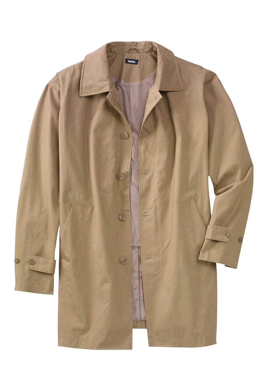 KingSize Mens Big /& Tall Water-Resistant Trench Coat