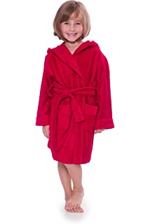 15bdd91c52 Amazon.com  TowelSelections Kids Hooded Velour Bathrobe for Boys and ...