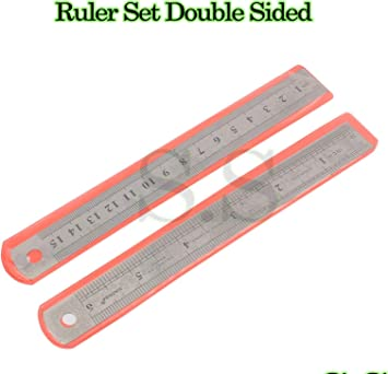 """6/"""" Dual Marking HIGH QUALITY Metric Imperial Scale 15cm STAINLESS STEEL RULER"""
