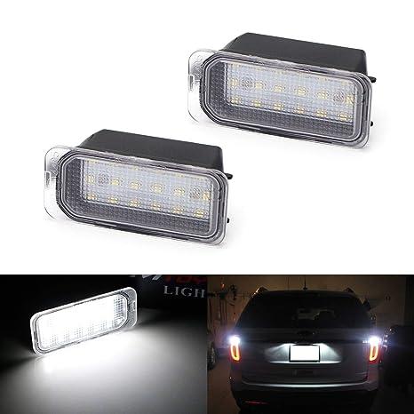 Led Auto Lights >> Amazon Com Ijdmtoy Oem Fit 3w Full Led License Plate Light