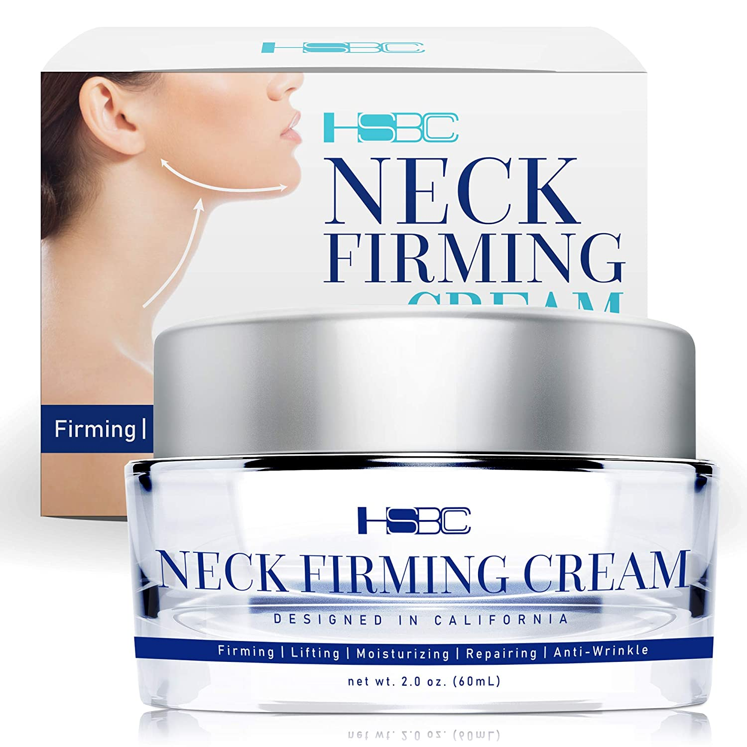 HSBCC Neck Firming Cream with Peptides,Neck Cream,Neck Moisturizer Cream,Anti Wrinkle Anti Aging Neck Lifting Cream for Neck, Advanced Stem Cell + Collagen Formula For Tightening & Lifting Sagging Ski: Beauty