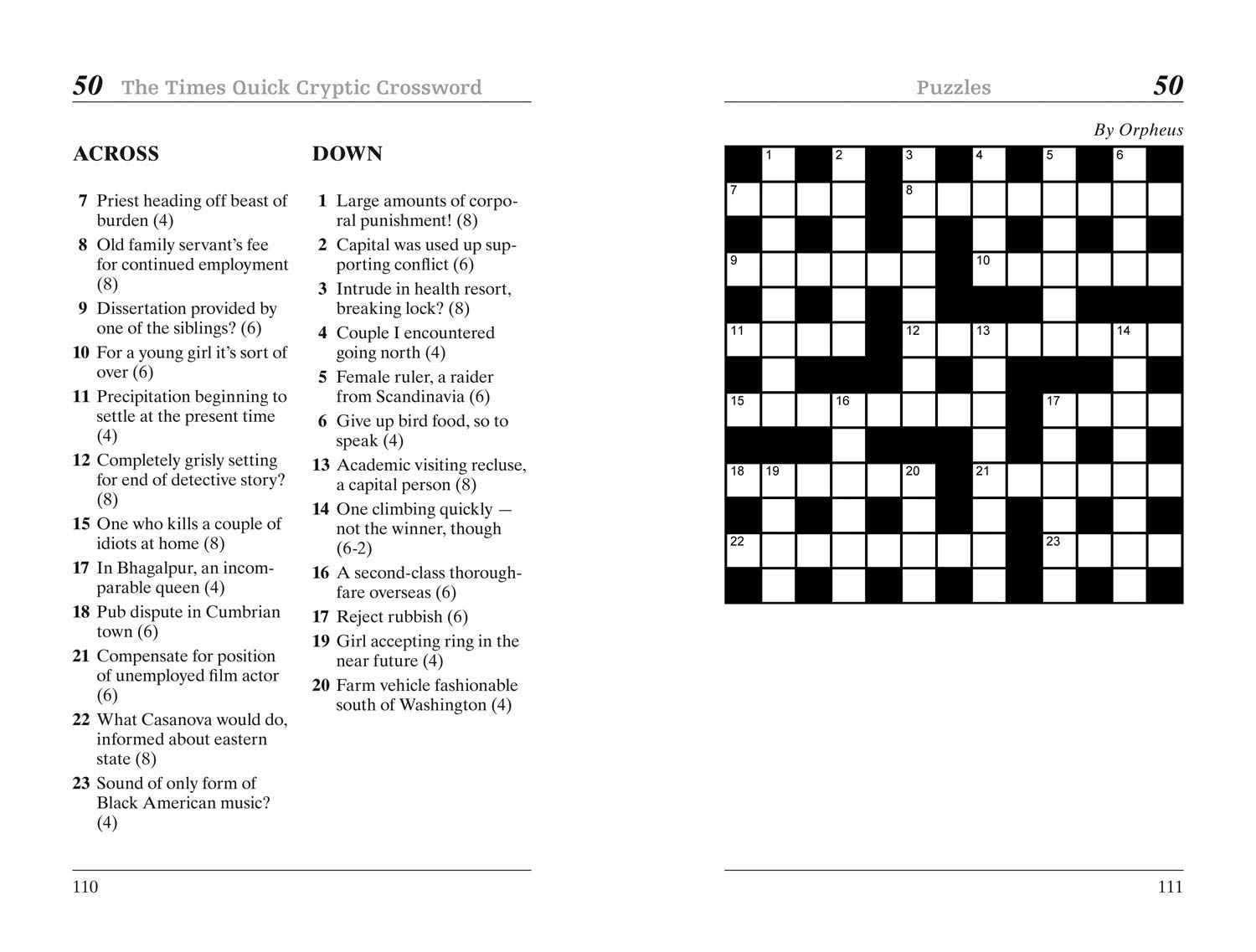 It is a picture of Printable Cryptic Crosswords in mathematical sequence