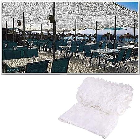 AnnWZW Red de Camuflaje Blanca, 3mx5m Camo Net Army Protección Solar Malla Sombra Red de Jardín Duradero Liviano para la Caza Disparos A Ciegas Camping Fotografía Decoración Sombrilla Selva 10m 8m 6m: