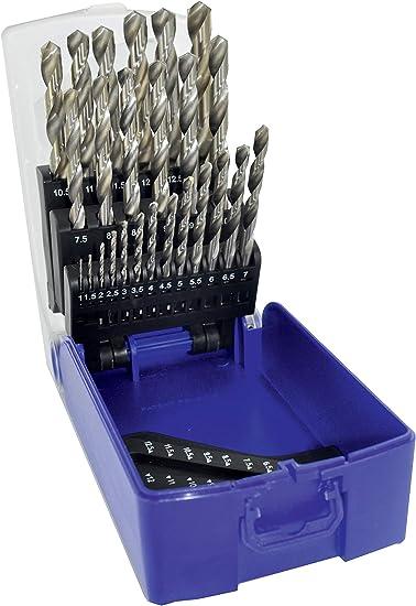 TIVOLY 11451070017 - Estuche G RECTIF 25 brocas metal punta en cruz HSS Ø 1>13 mm 1/2: Amazon.es: Bricolaje y herramientas