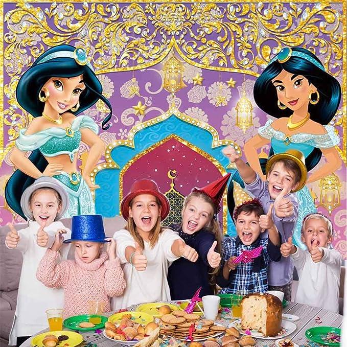 Aladdin Princess Jasmine Backdrop Girls Birthday Party Background Photo Decor