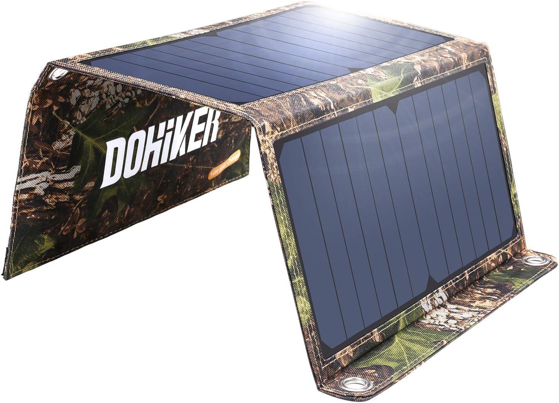 DOHIKER – Solar Ladegerät 14W Solar Panel mit Dual USB Ports