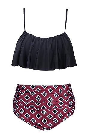 Vente Commercialisable EasyMy Retro 50s Floral Maillots de Bain Strap Ajustable Haut Court Bikini Set 100% Garanti En Ligne Achat De Réduction 100% Authentique zAgP6D5VCz