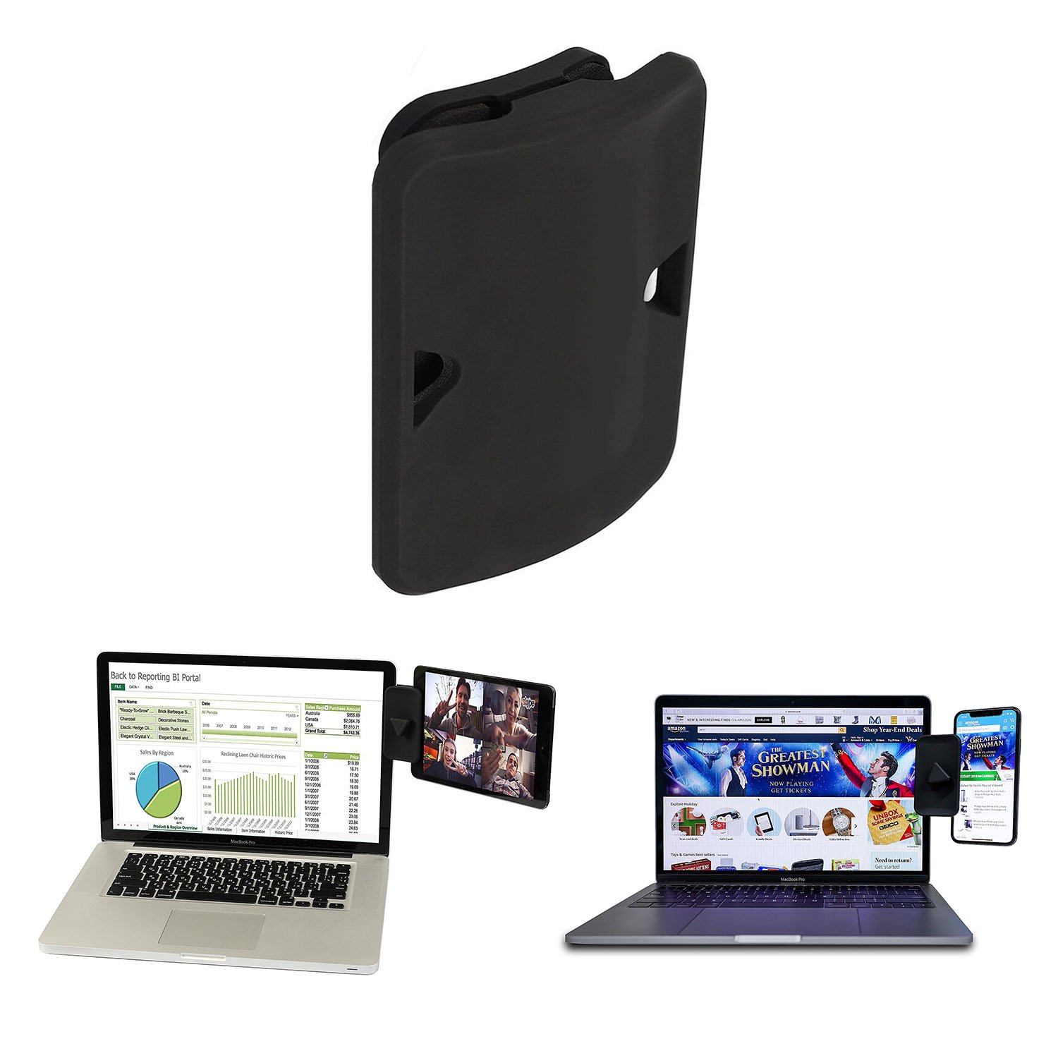 Side Mount Clip for Dual Monitor Instant Second Display Compatible with Most Laptops 2 Pack Dual Display iPad Monitor Mount and Tablet Stand Mount for Your Laptop