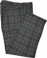 KRB86S2 スリーシーズンスラックス グレンチェック緑ライン W70~W95 スリムツータック W70~W95  seifuku pants