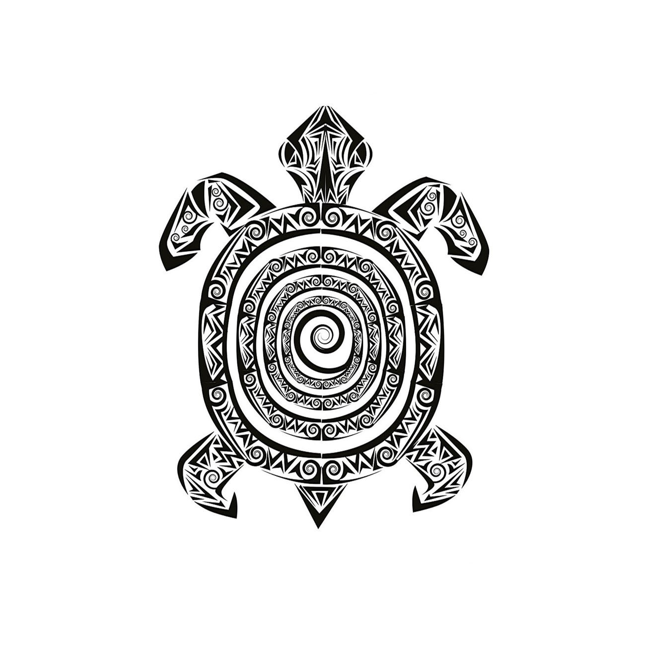 VROSELV Custom Manta Tortuga Maori Tatuaje Estilo Figura de Mar ...