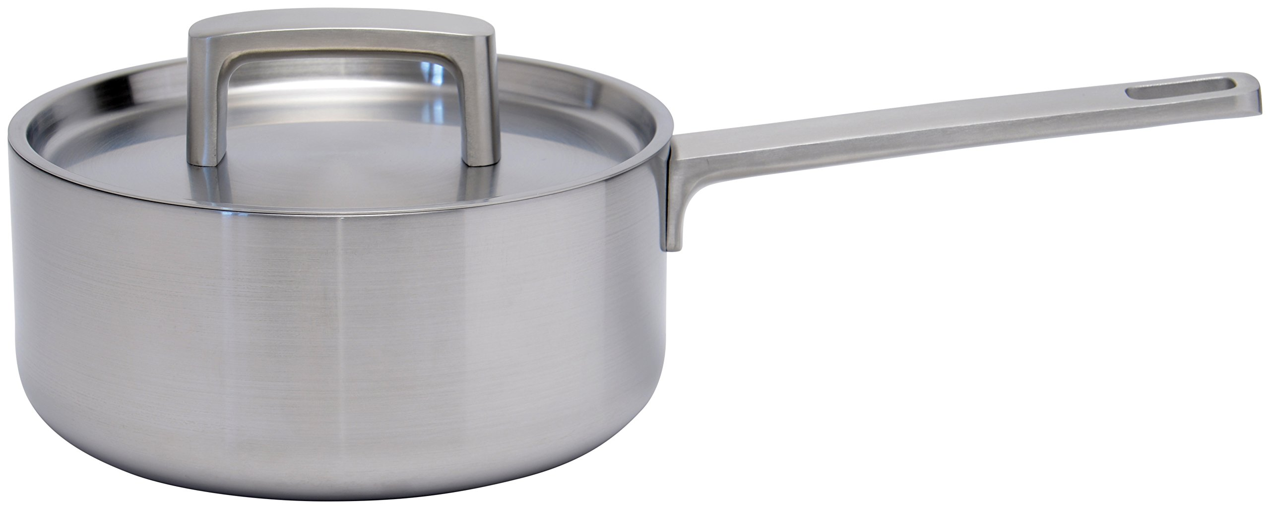 BergHOFF 3900030 Ron 5-Ply Covered Sauce Pan, 7''/2.1 quart, Silver