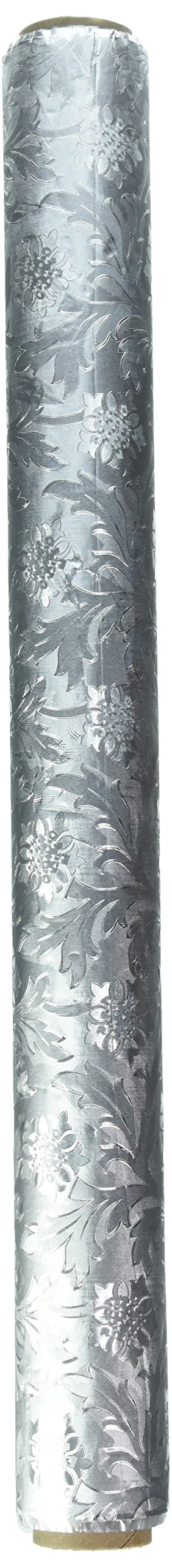 Poly-Embossed Florist Foil Silver