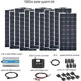 XINPUGUANG 1200w kit solar aislado 12x 100W 18v panel solar flexible pv módulo monocristalino 60A regulador inversor…