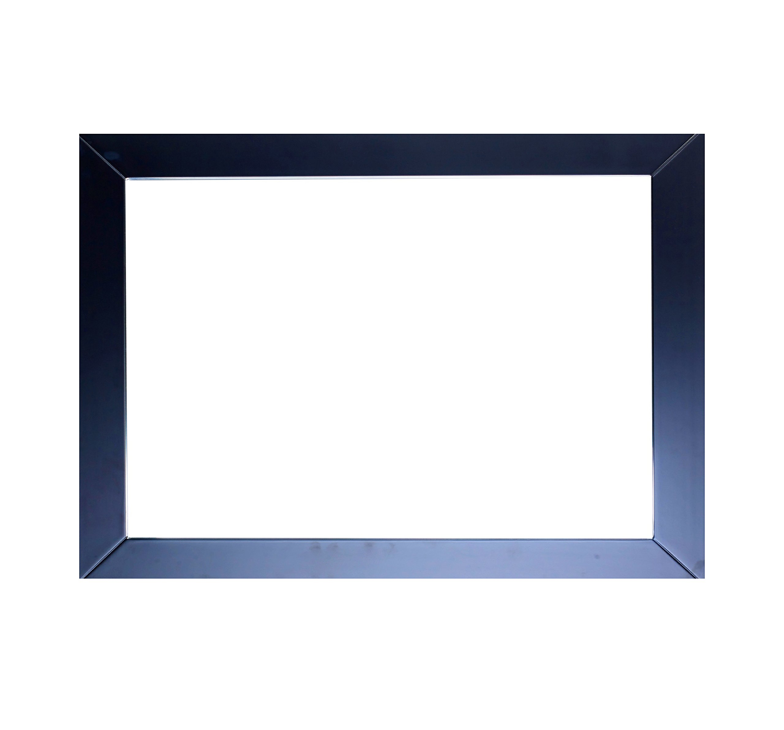 Eviva EVMR514-48X30-ES New York Bathroom Vanity Mirror Full Frame Espresso 48X31 Wall Mount Combination