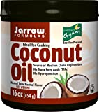 Jarrow Formulas 100% Organic Coconut Oil, Supports Cardiovascular Health, 16 Ounce