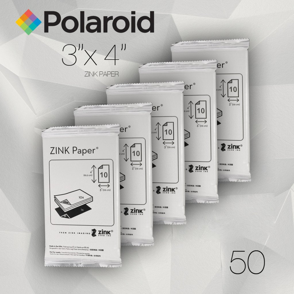 Polaroid ZINK Media 3 x 4 inch Photo Paper for Polaroid Z340 Camera and Polar... Polaroid  POLZ3X450