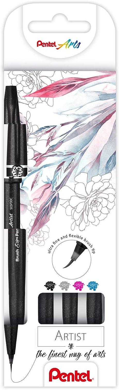 Pentel SESF30C-VX Brush Sign Pen Artist Pinselstift mit extra feiner Pinsel-Spitze 1 St/ück violett