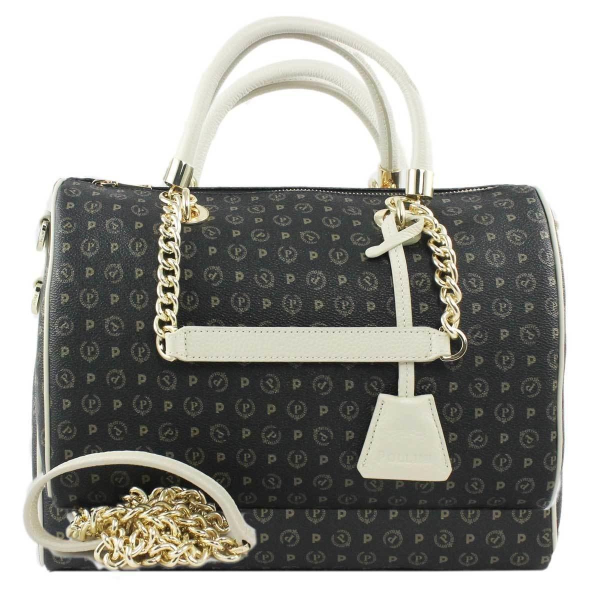 4784d29d1d borsa bauletto pollini tapiro TE8411PP02Q1100C nero+vit avorio: Amazon.it:  Abbigliamento