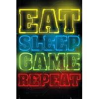 GB eye Ltd POSTER GAMING EAT SLEEP GAME