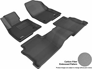 3D MAXpider L1MZ04001509 Complete Set Custom Fit All-Weather Floor Mat for Select Mazda6 Models - Kagu Rubber (Black)