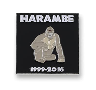 95e71abeb Amazon.com: Forge Harambe 1999-2016 RIP Enamel Lapel Pin (1 Pins ...