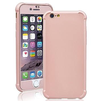 Smartlegend Funda iPhone 6 Silicona, iPhone 6 Case 360 Grados Integral Ambos lados + Cristal Screen Protector, Carcasa para Apple iPhone 6 6S Anti ...