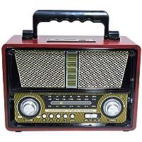 Rádio Recarregável Retrô AM/FM/SW/USB/SD/Bluetooth Livstar CNN 2906BT
