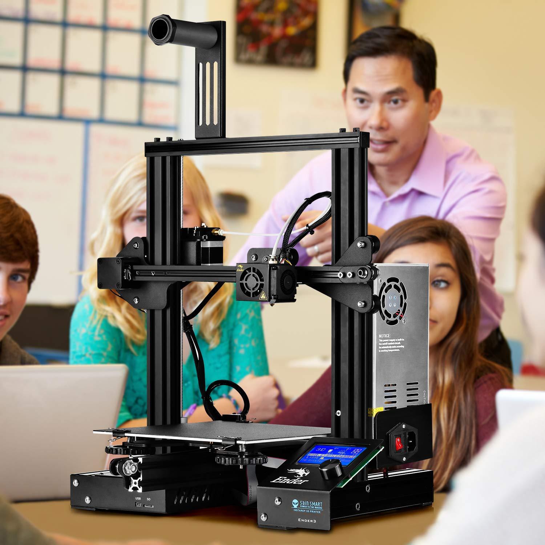 "SainSmart x Creality Ender-3 3D Printer, Resume Printing V-Slot Prusa i3, Build Volume 8.7"" x 8.7"" x 9.8"""