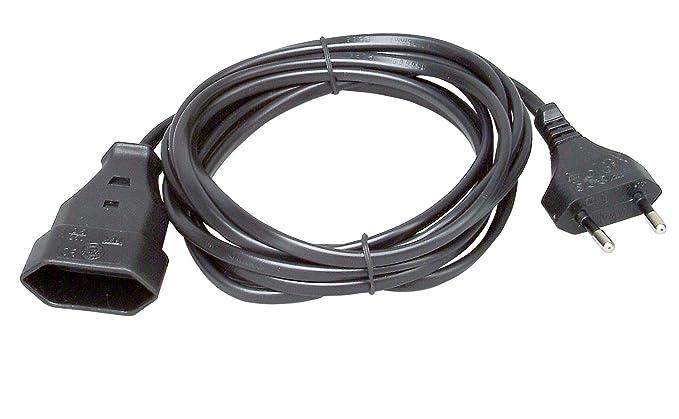 Meister Euro-Verl/ängerung 3 m Kabel schwarz Kunststoffleitung IP20 Innenbereich Ideal f/ür Lampen /& Lichterketten // Verl/ängerungskabel // Euro-Stecker // Euro-Kupplung // 7431320