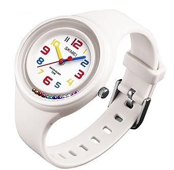 Amazon.com: Relojes de pulsera para niñas, con banda ...